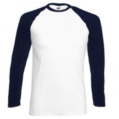 Navy Blue Sleeve/White