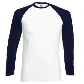 Navy Blue Sleeve/White