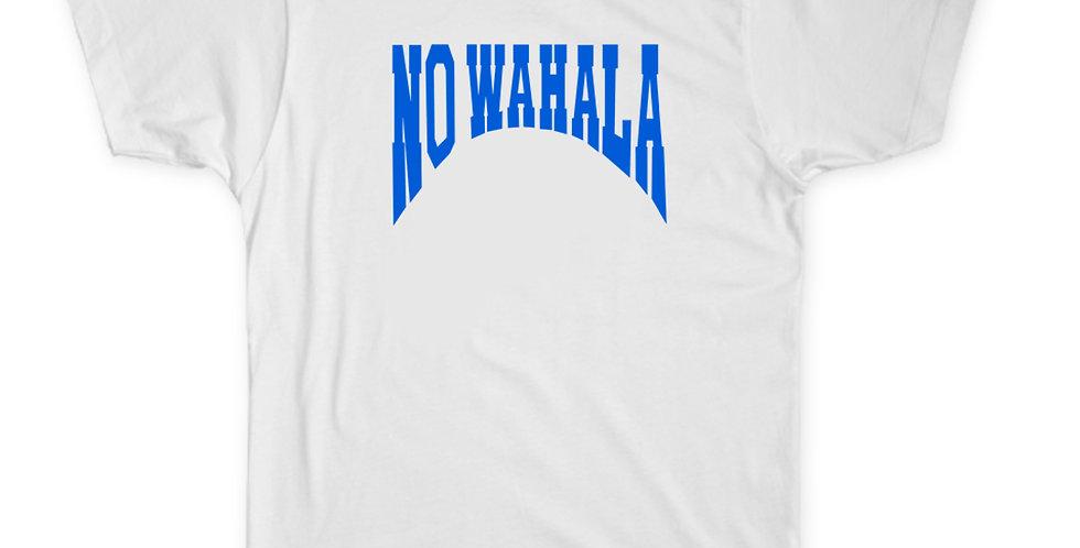NO WAHALA T-SHIRT - WHITE/BLUE