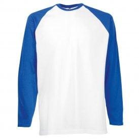 Royal Blue Sleeve/White