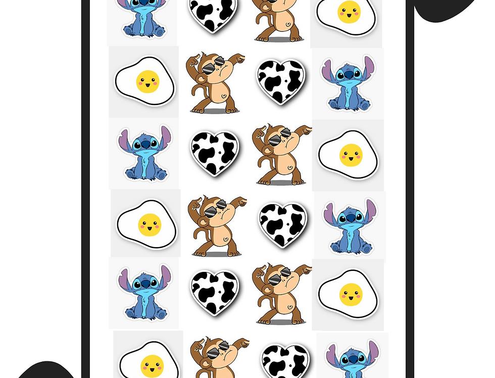 "1X1"" Kiss Cut Sticker Sheet"