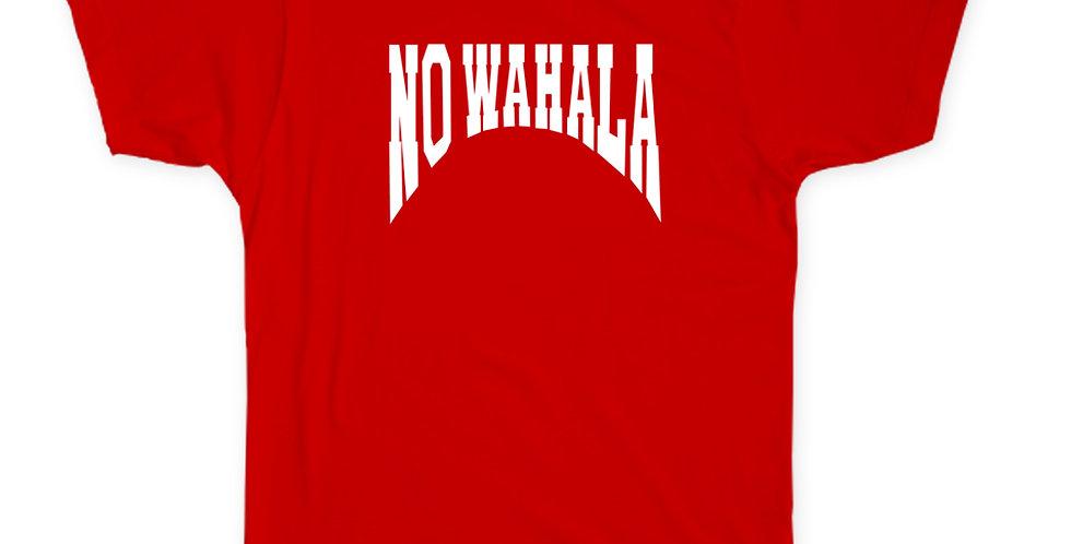 NO WAHALA T-SHIRT -RED/WHITE