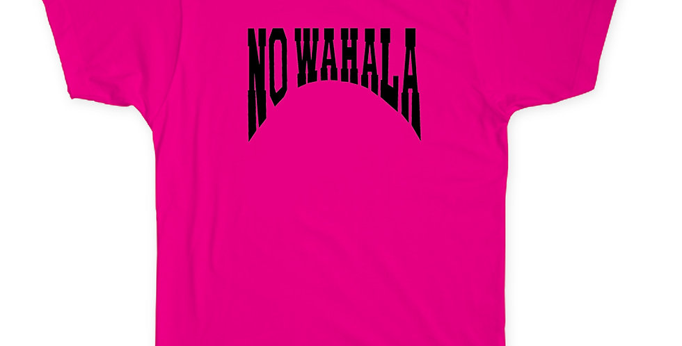 NO WAHALA T-SHIRT - PINK/BLACK