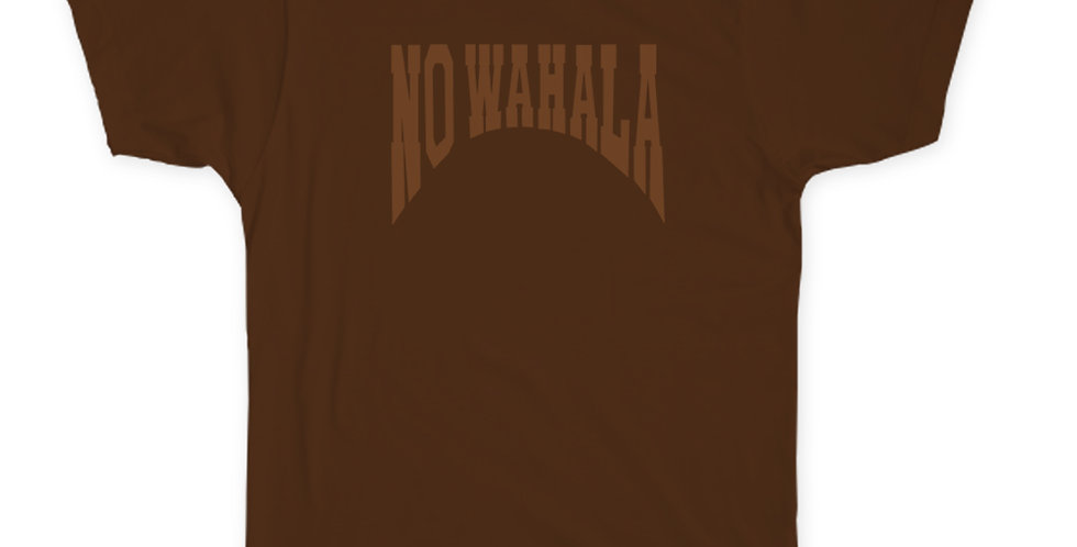 NO WAHALA T-SHIRT - BROWN/BROWN