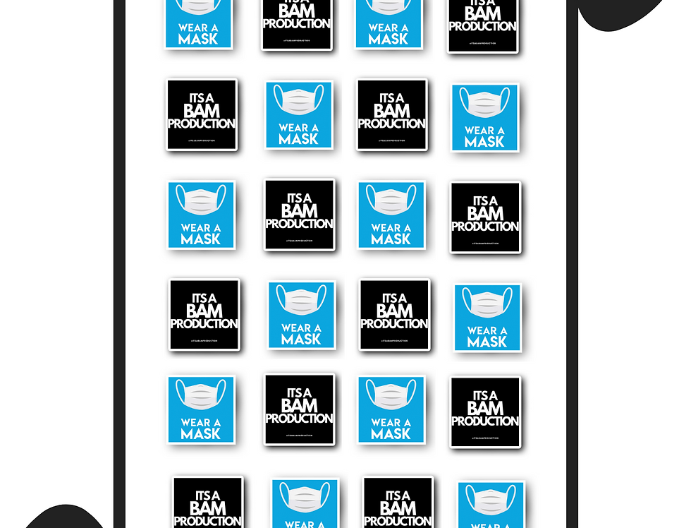 "1X1"" Square Sticker Sheet"
