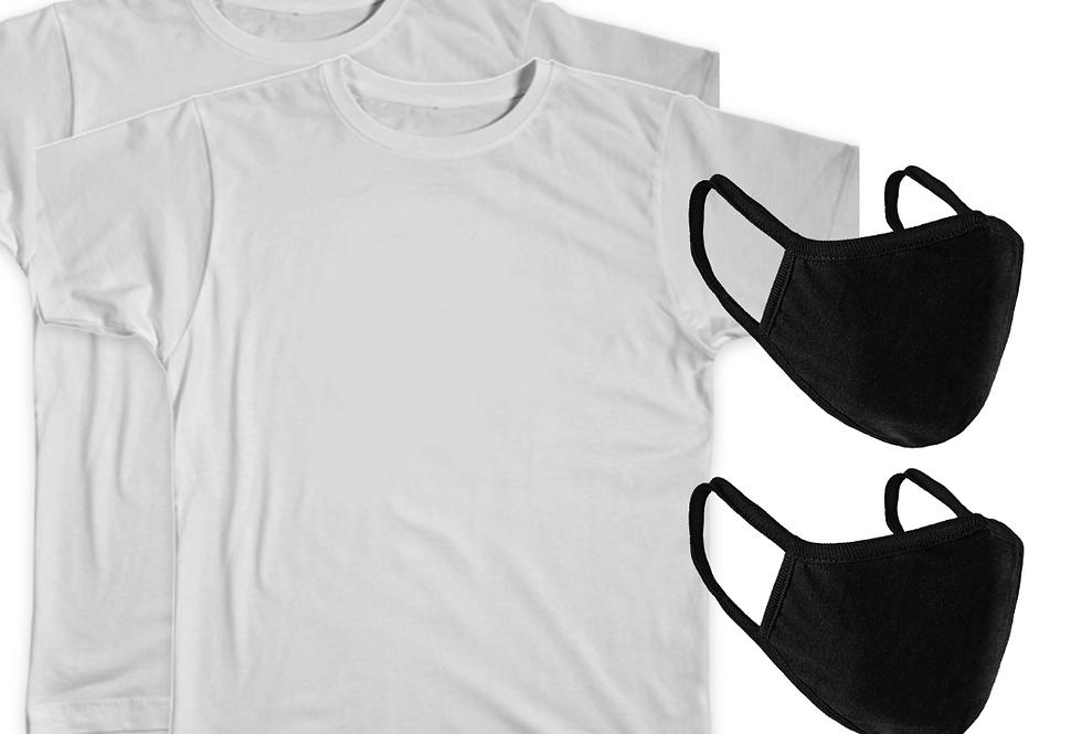 2 Tees & 2 Face Masks