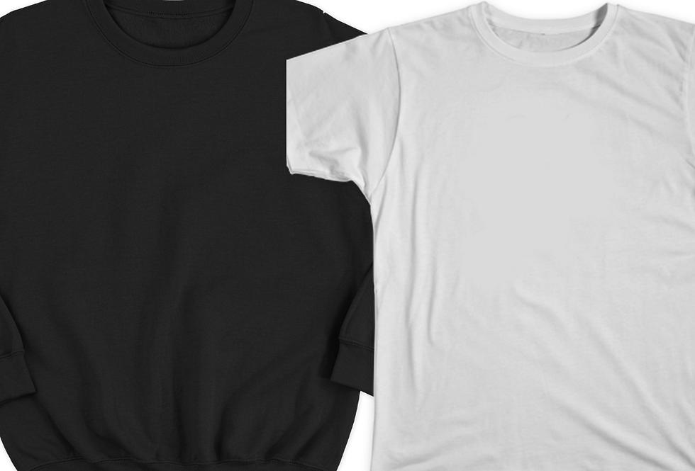 1 Sweatshirt +  1 T-Shirt