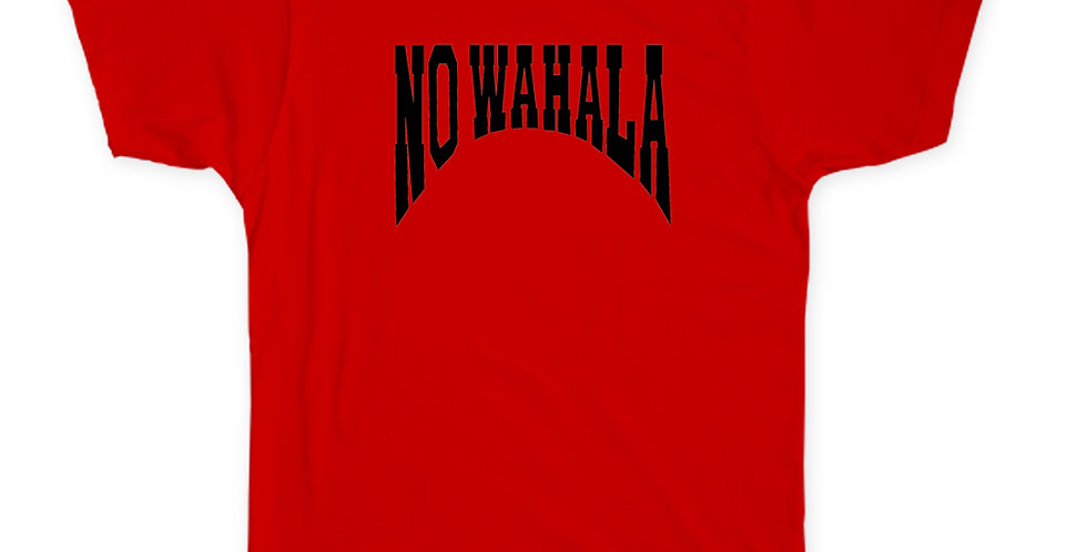 NO WAHALA T-SHIRT -RED/BLACK