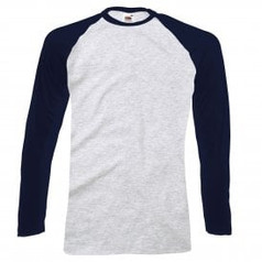 Navy Blue Sleeve/Grey