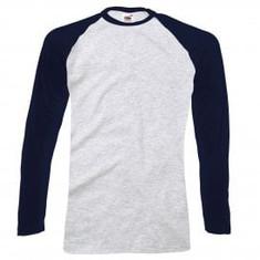 Navy Blue Sleeve/Grey