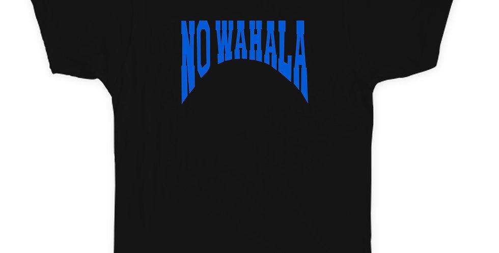 NO WAHALA T-SHIRT - BLACK/BLUE