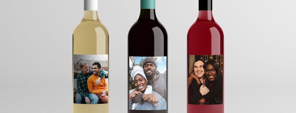 Valentine's Day Wine Label
