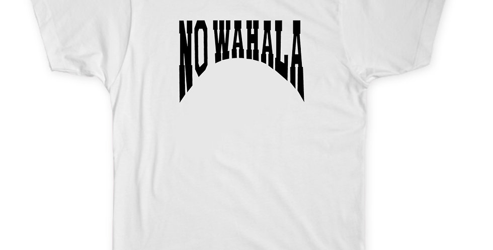 NO WAHALA T-SHIRT - WHITE/BLACK