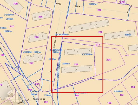 תרשים GIS ופרטי תכניות מאושרות