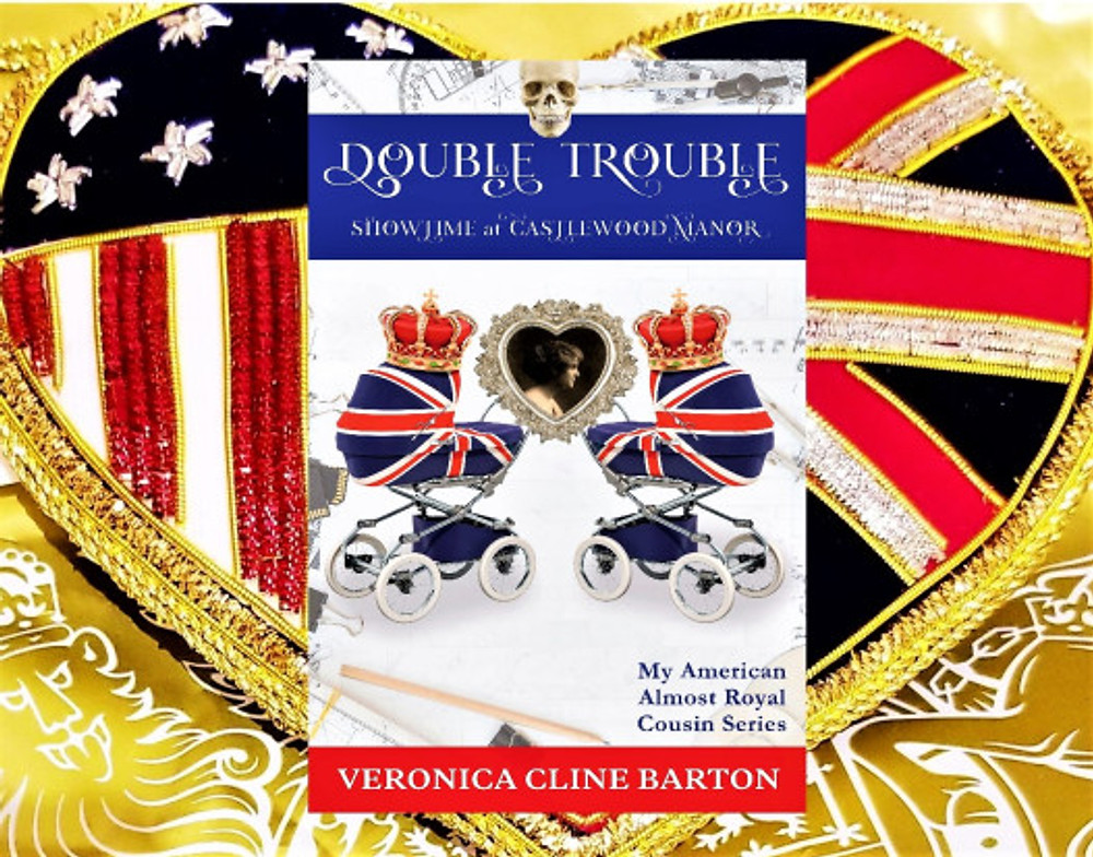 Double Trouble Showtime at Castlewood Manor heart flag background4