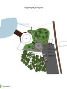 план благоустройства территории ресторан