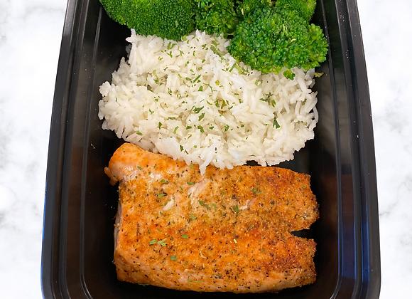 Fresh Salmon  Jasmine Rice  Broccoli