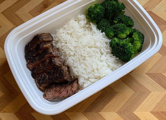 Steak Tips  Jasmine Rice  Broccoli