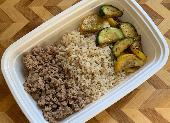 G. Turkey  Brown Rice  Zucchini