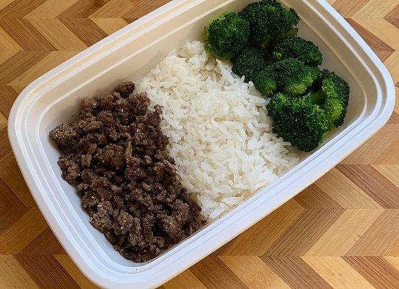 Ground Beef  Jasmine Rice  Broccoli