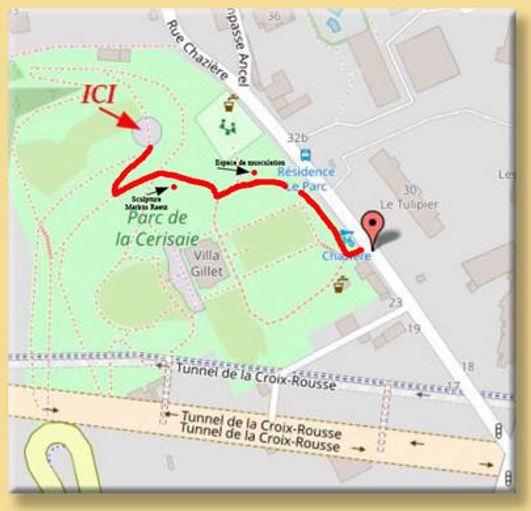 Où pratiquer au parc de la Cerisaie Lyon 4?