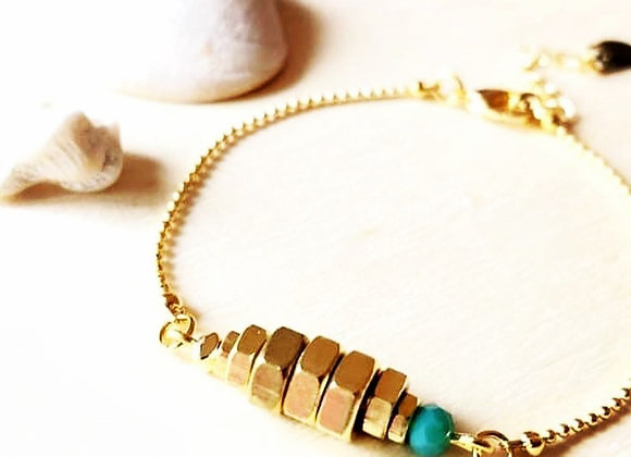 Bracelets boulons turquoise oh la la