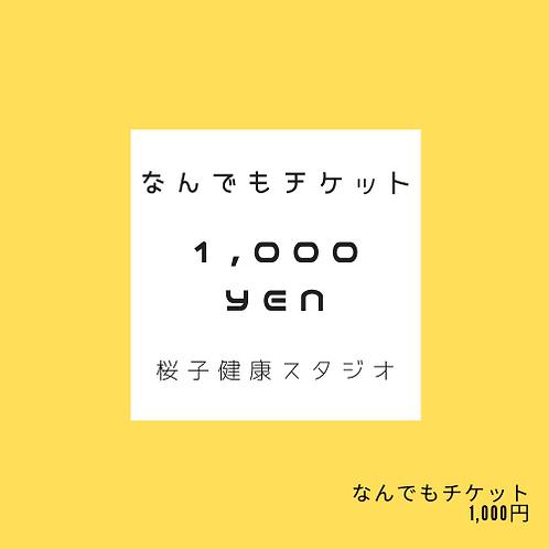 なんでもチケット(1000円)