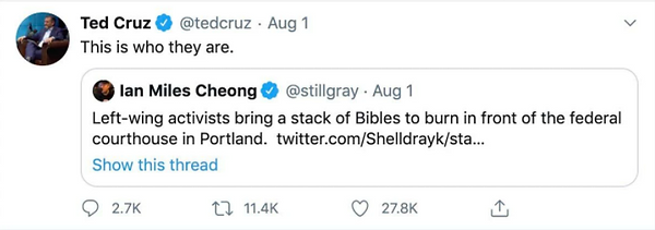 Cruz Bible burn tweet.png