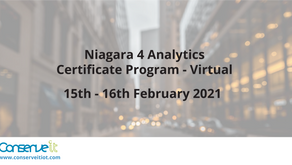 Tridium Niagara 4 Analytics Certification - Virtual Course