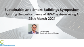 Chirayu Shah to present at the 2021 Sustainable and Smart Buildings Symposium