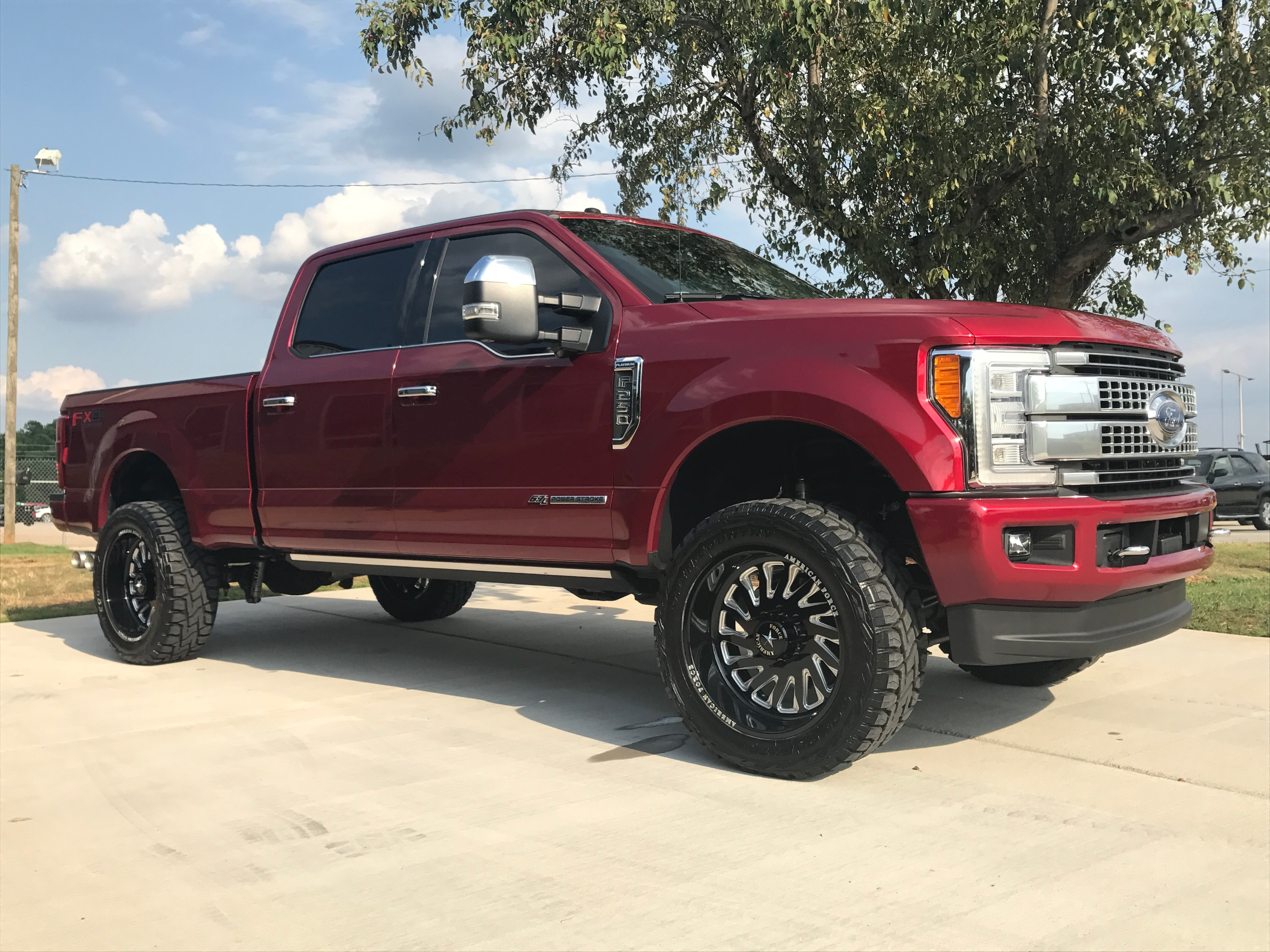 Route 66 Lifted Ford F-350 Red