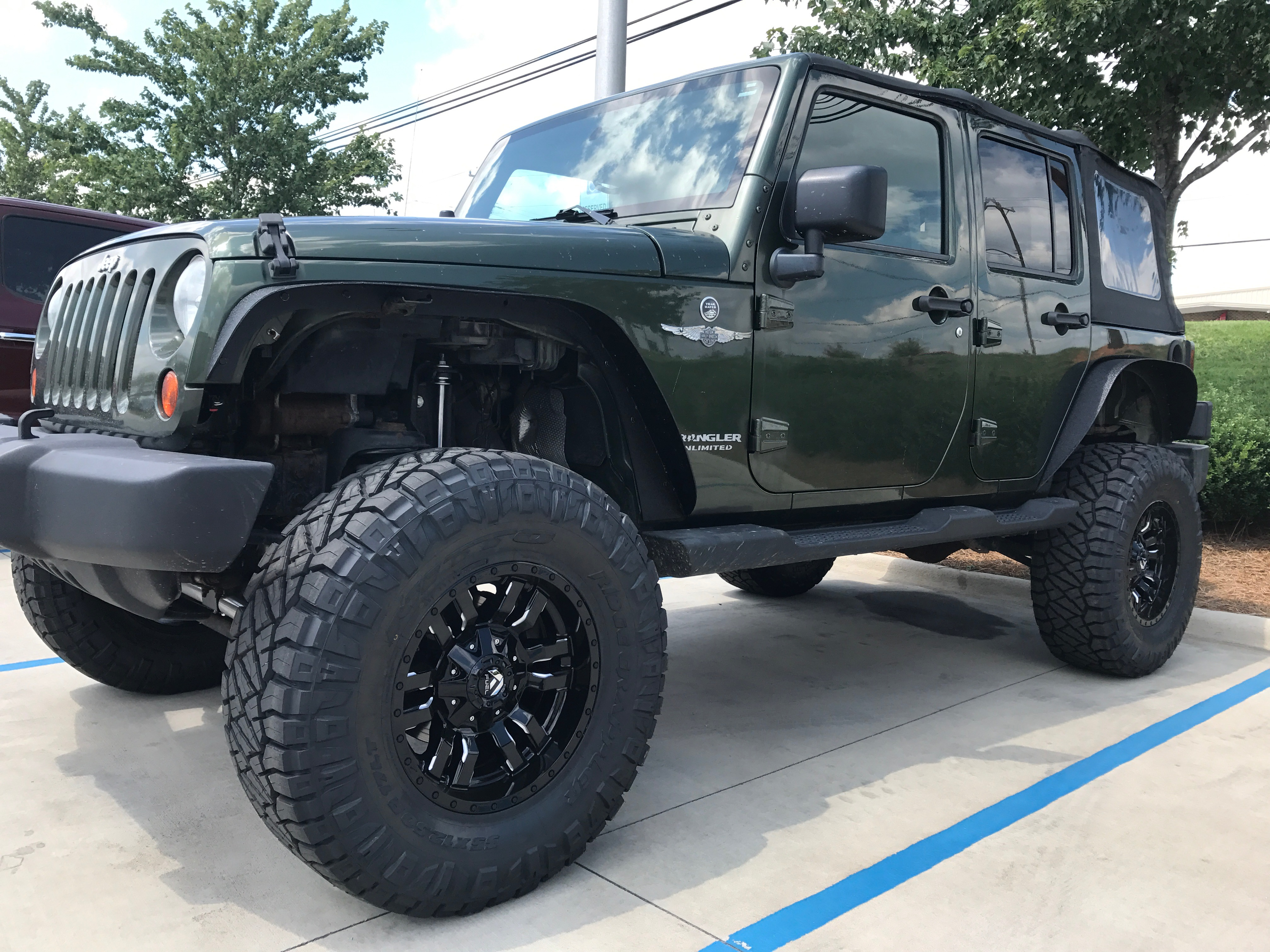 Route 66 Lifted Jeep JK Green