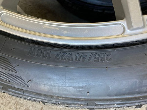 """Asanti Black Label 22x9j, 5x 5 lug pattern/ TOYO PROXIES ST 265/40r22""""tires"""