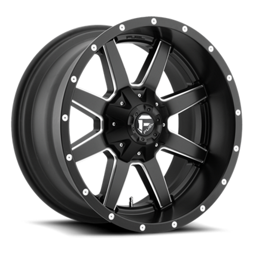 "20"" FUEL WHEELS D538 MAVERICK BLACK AND MILLED"