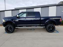 Route 66 Lifted Ram 3500 Blue with a