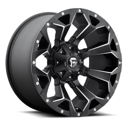 "20"" FUEL BLACK ASSAULT WHEELS - Model D546"