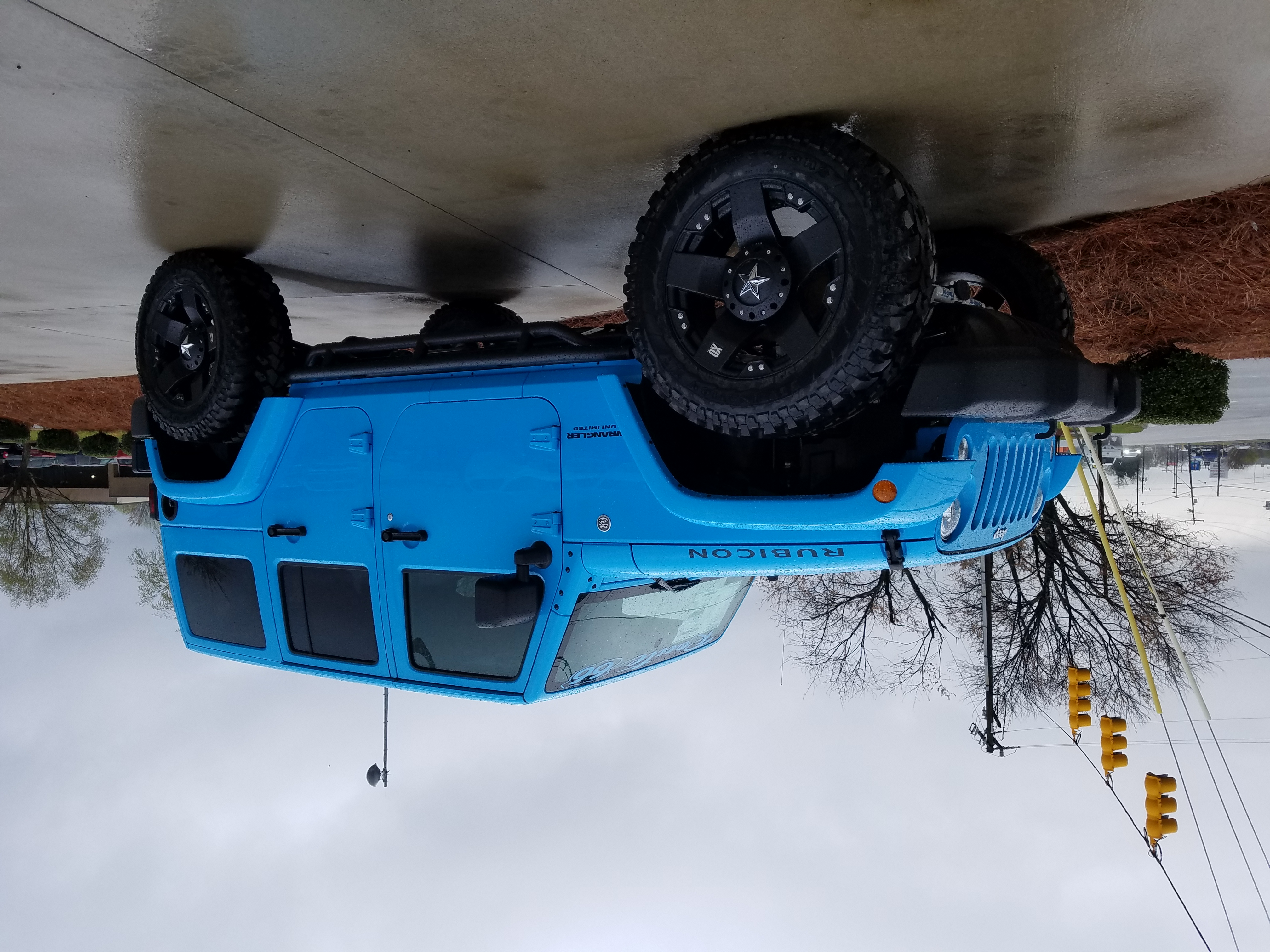 Route 66 Lifted Jeep JK Rubicon Blue