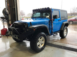 Route 66 Lifted Jeep JK Blue