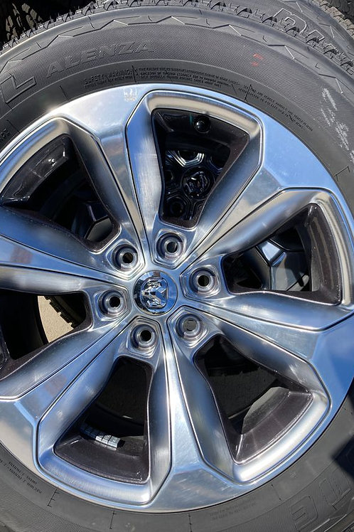 (4) 2020 RAM 1500 6 x 5.5 lug MOPAR OEM wheels w/ 275/55R20 Bridgestone dueler H