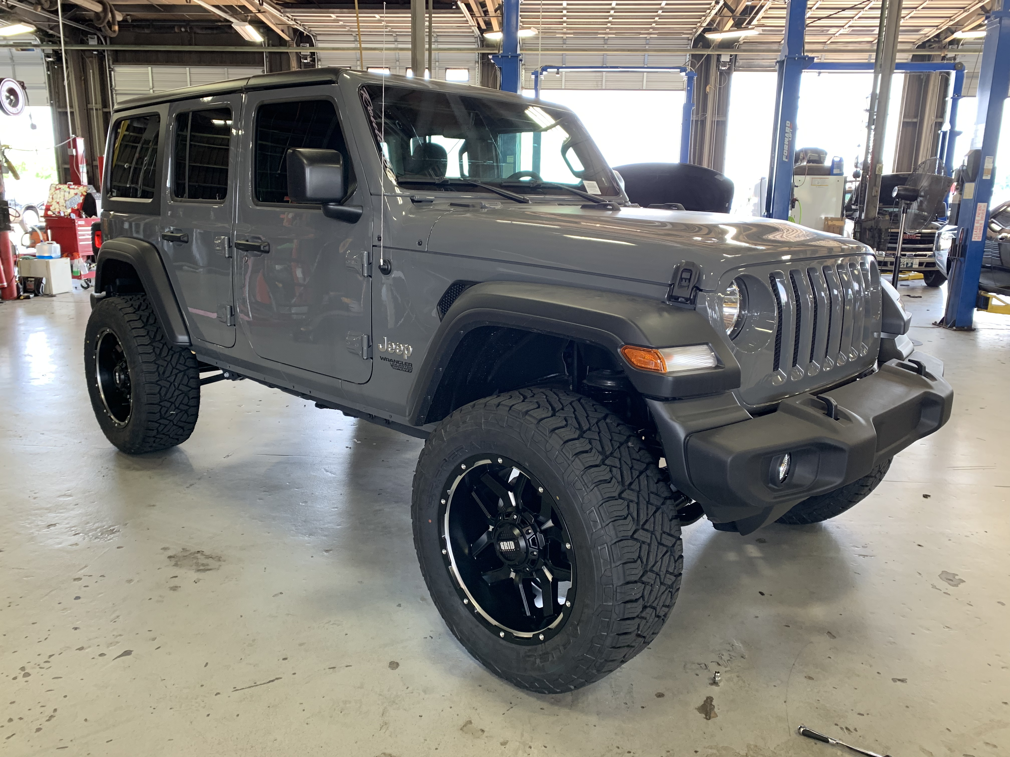 2019 Lifted Jeep JL Grey