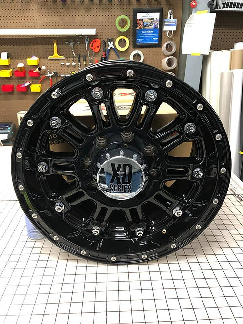 1 (replacement wheel) XD Series XD795 Hoss Wheel 17x9 with 8x6.5 Lug Pattern