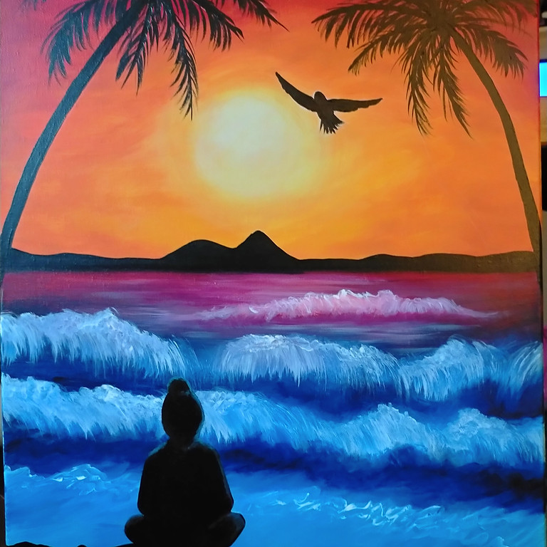 WACOL - Wolston Farm House - Sip and Paint 'Sunset Zen' with us!