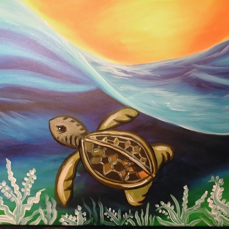 SPRINGFIELD - ORION - Learn to Paint-Sea Turtle!