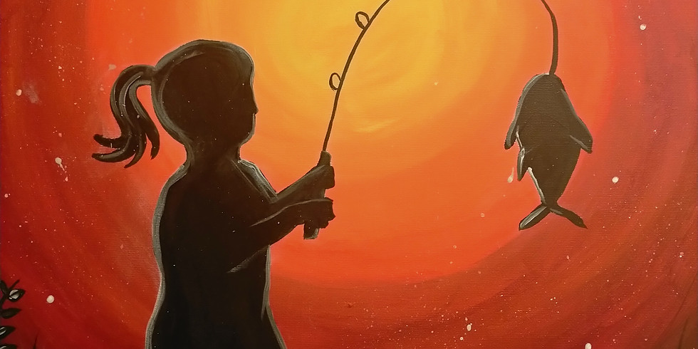 Stellarossa- Learn to Paint 'Little Girl, Big Fish'