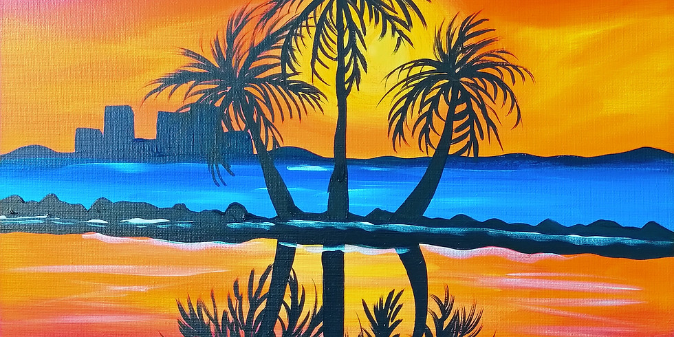 Bribie Island Coffee Club- Learn to Paint 'Palm Lagoon'
