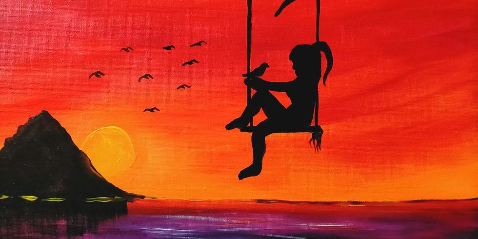 NORTHLAKES- Stellarossa- Learn to Paint- 'Sunset Swing'