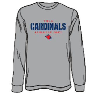 CARDINALS ATHLETICS GREY L/S TEE 50/50 (Youth)