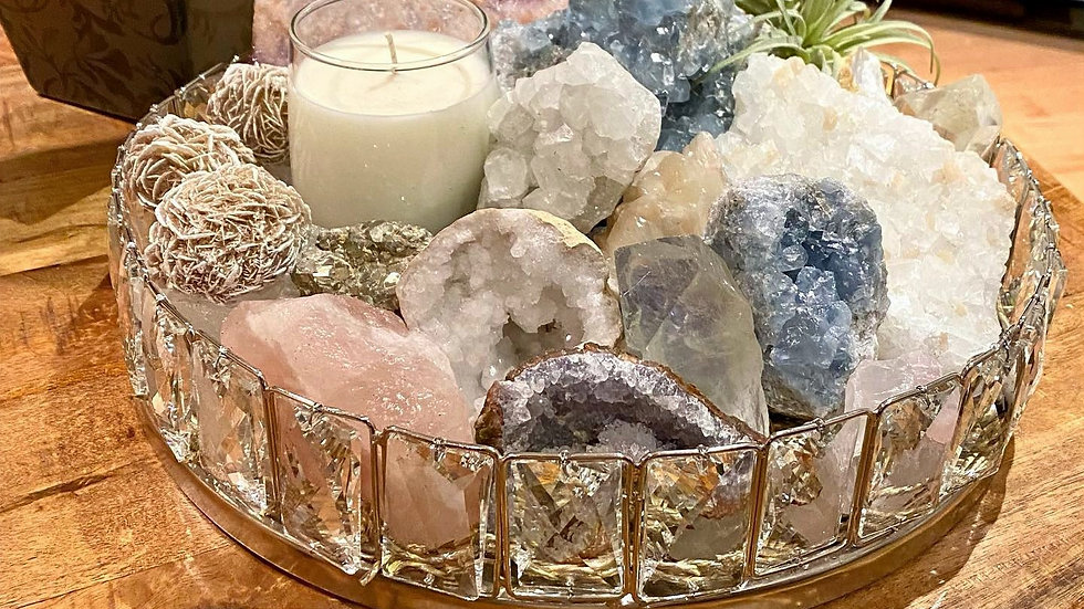 Mindful luxury Crystal Collection in Glass.