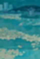 정연희_물에서 잠드는 꽃_2018_한지에 모시콜라주_ 61cmx91cm.