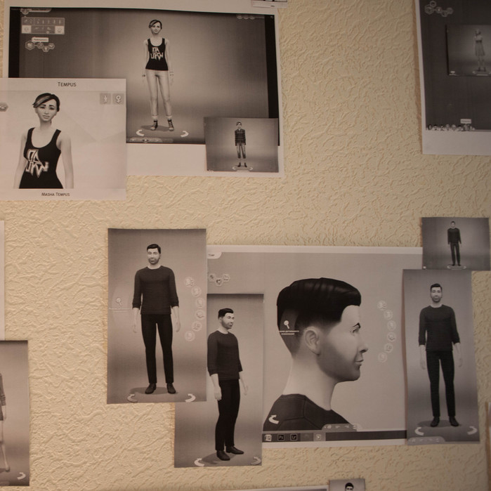 Ekaterina Isaeva The Sims. Tempus familyMultimedia installation. 2016